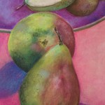 Pears on Plate  -  SOLD