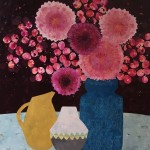 Chrysanthemums & Smokebush  -  SOLD